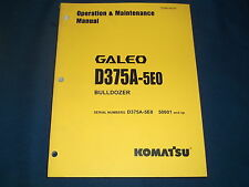 KOMATSU D375A-5E0 CRAWLER DOZER OPERATION & MAINTENANCE BOOK MANUAL S/N 50001-UP