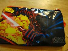 STAR WARS DARTH VADER STORM TROOPERS ZIPPERED SCHOOL PENCIL Case New