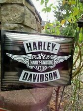 Official HARLEY-DAVIDSON Motorcycles Embossed WALL SIGN - Exclusive
