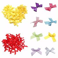 50pcs Silk Satin Ribbon Bows Ribbons Appliques Scrapbooking Craft DIY HOT Sale