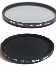 Hoya Multi-Coated HMC 77mm ND2 ND4 NDX2 NDX4 Lens Filter Neutral Density 77 mm