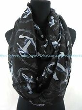 US SELLER-fall winter Infinity Scarves for Cheap nautical anchor infinity scarf