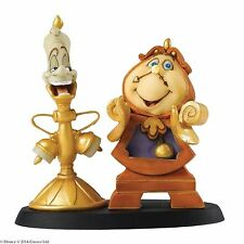 Disney Enchanting Loyal Servants Cogsworth and Lumiere Figurine 7cm A26914
