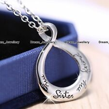 Xmas Gifts for Her Sister Engraved Infinity Best Friends Love Necklace Women RF2