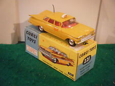 "Corgi No: 221 ""Chevrolet Impala New York Taxi"" - Yellow (Original 1960's/Boxed)"