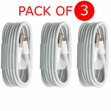 3X Extra Long 3M USB LEAD SYNC DATA CABLE CHARGER FOR iPhone 6 PLUS 5 5S iPad UK