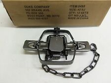 1  Duke # 2 Square Jaw Coil Spring Trap Raccoon Coyote Bobcat Fox Lynx 0492