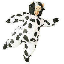 Adult Inflatable Cow mascot Costume Air Blowup Fancy Dress Christmas Outfit Suit