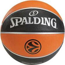 Basketball Sports Official Game Euroleague Spalding Basketball Black / Orange.