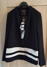 Maison Scotch Women's Black & White Wool Blend Blazer Jacket SIZE 12 BNWT
