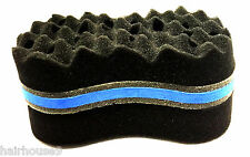 Double Wave Barber Hair Brush Sponge Magic Dreads Locking Twist Coil Afro Curl