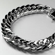 Stainless Steel Bracelet biker chain thick heavy solid extra large