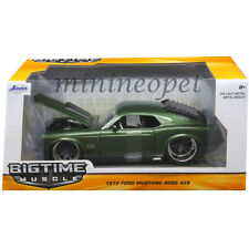 JADA BIGTIME 98168 1970 FORD MUSTANG BOSS 429 1/24 DIECAST MODEL CAR DARK GREEN