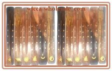 Wholesale Set of 12 x Wooden Incense Burners Ashcatchers Great Gifts (Dozen) 10""
