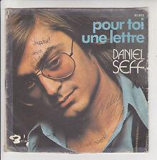 """Daniel SEFF Vinyle 45T 7"""" POUR TOI UNE LETTRE -LA FILLE D'UN ETE -BARCLAY 61652"""