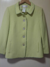 A LOVELY WOMENS PALE LIME PLATINE JACKET  SIZE 12   ( MORE MEASUREMENTS BELOW )