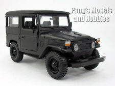 Toyota FJ40 Land Cruiser 1/24 Scale Diecast Metal Car Model - BLACK