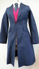 Reed Hill Saddleseat Day Coat Navy Blue Dupioni Silk size 12