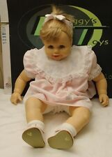 "Geli Doll Made In Mexico Large Baby Doll Blonde Gray Eyes Smiling 22"" Very Cute"
