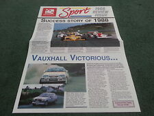 1988 VAUXHALL SPORT NEWS REVIEW ISSUE - Nova Astra GTE Lotus Challenge BROCHURE