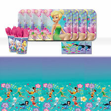 Disney Tinkerbell Fairies Children's Birthday Party Tableware Pack Kit For 16