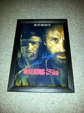 """THE WALKING DEAD PP SIGNED & FRAMED 12""""X8"""" A4 POSTER RP AUTOGRAPHED GUVNOR N2"""