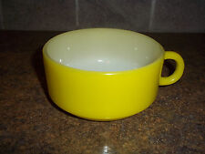 Vintage Glasbake Yellow Soup, Chilli  Bowl With Handle J-2711 Made in U.S.A.