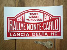 LANCIA DELTA HF Rally Di Monte Carlo Vincitore 87 ADESIVO 17.8cm Auto Classica