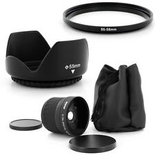 55mm Super Fish Eye 0.18x,Petal Lens Hood for Sony Alpha SLT A37 A57 A77 A65 A55