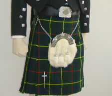 Scottish | Hunting Stewart Tartan Heavy Kilt & Kilt Pin | Geoffrey