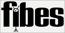 Fibes tipo Adesivo/Adesivo (Nero su bianco in vinile per teste o caso copie) x2. *