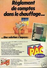 Publicité advertising 1982 La Pompe à chaleur PAC Carrier