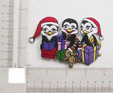 Amigos de hierro en apliques de pingüino de Navidad X 1 Pieza
