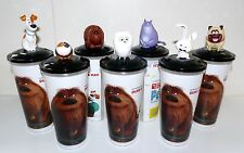 Cup topper figure  the Secret life of Pets Full set+collectible movie cups!