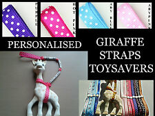 PERSONALISED SOPHIE THE GIRAFFE STRAP TOY SAVER LEASH HARNESS BUY 2 GET 3