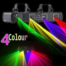 420mW 4 Colors Laser Light 4 beam 4 Lens DMX DJ Party Stage Disco Wedding Show