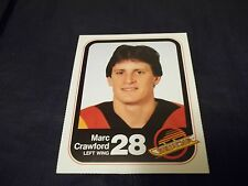 1983-84 Vancouver Canucks Team Issue #28 Marc Crawford