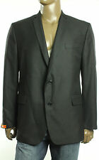New Mens Tallia Black Textured Stripe Sportcoat Blazer Jacket 50 R