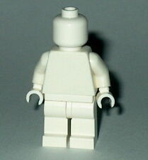 STATUE MINIFIG Lego Solid-Plain WHITE MiniFigure NEW Genuine Lego  Monochrome