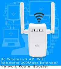 DOPPIA ANTENNA WIFI 300 MBPS RIPETITORE AP WIRELESS N 802.11 RANGE BOOSTER ROUTE