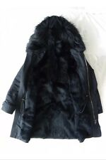 AS NEW worn once! - JOSEPH Orlan Fur Lined Parka Jacket Coat - BLACK - Size 38