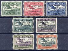 ALBANIA 1928 Airmail Vlore-Brindisi overprint set LHM / *