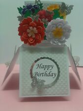 beautiful flower themed birthday /mothers day/all occasions  popup card