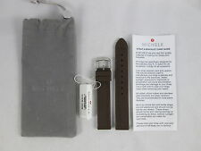 NEW Michele Embossed 16mm Brown Silicone Rubber Watch Band Strap MS16A1040737