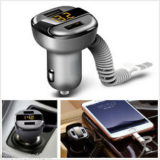 Car Dual USB Fast Charger 3.4A With Voltage/Current Digital For Android Iphone