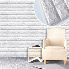 PE Foam 3D Wall paper Wall Stickers Brick Stone Feature Retro Home 60 X 60cm