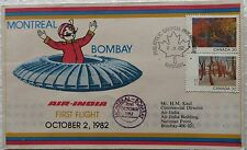 AIR INDIA FDC MONTREAL BOMBAY PHILATELIC CANADA RARE COLLECTIBLE AUTOMOBILE