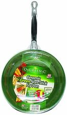 "Telebrands Orgreenic Frying Pan 10"" Inch Ceramic Non-stick MP"