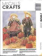 "7808 UNCUT McCalls SEWING CRAFT Pattern Halloween Scarecrow Pumpkins 21"" Harvest"