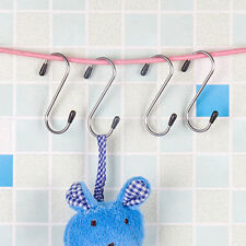 4x7cm Stainless Steel S Hooks Kitchen Meat Pan Utensil Clothes Hanger Hanging AS